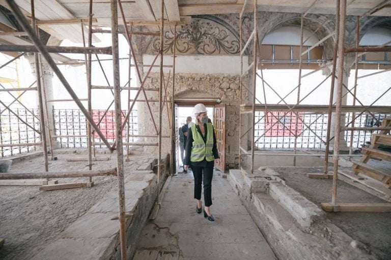Restoration of the frescoes is completed / Very soon, the mosque of Haji Et'hem Bey will be returned to the believers and visitors 1