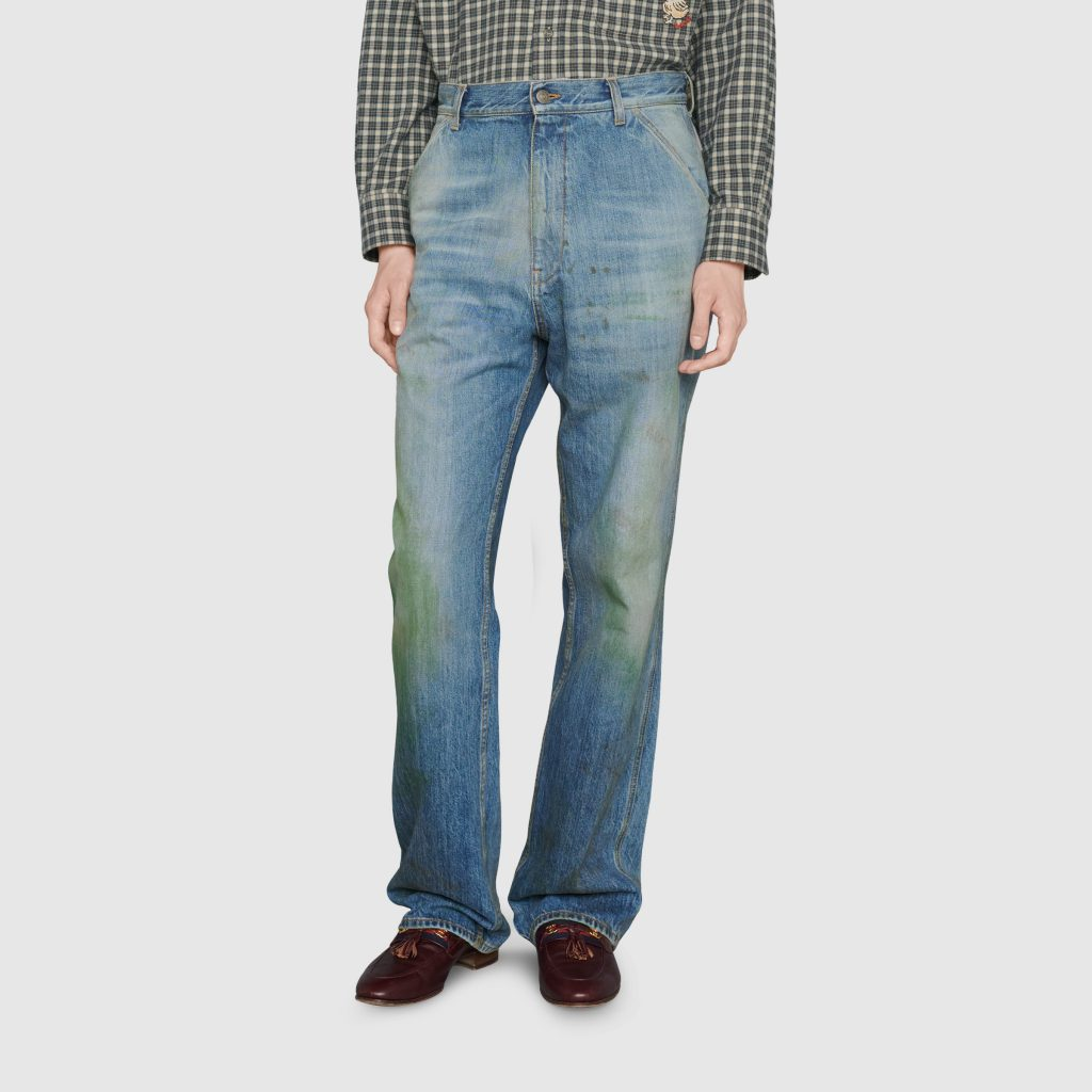 "Gucci's new trend, grass-colored jeans that are ""driving"" bloggers crazy 1"