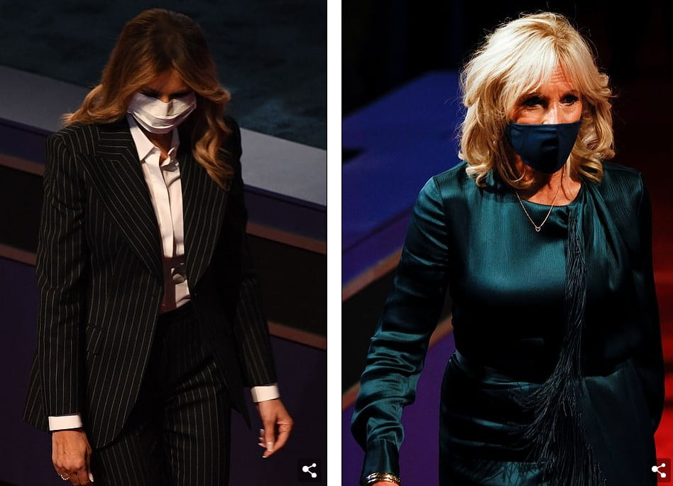 Presidential Debate / Melania Trump and Jill Biden grab attention with elegant presentation 2