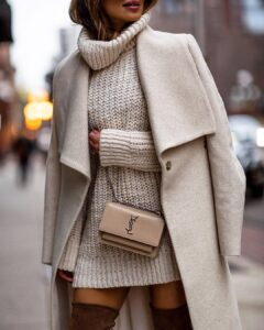 Sweater dresses / 10 combination ideas for the most comfortable outfit of season 2