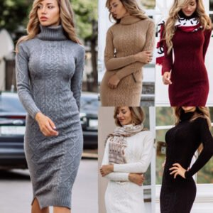 Sweater dresses / 10 combination ideas for the most comfortable outfit of season 7