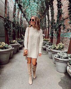 Sweater dresses / 10 combination ideas for the most comfortable outfit of the 10th season