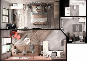 Life in 70 square meters. 6 ideas on how to design your home 5