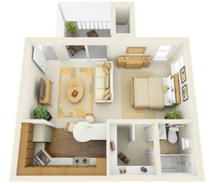 Life in 70 square meters. 6 ideas on how to design your home