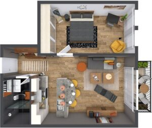 Life in 70 square meters. 6 ideas how to design your home 1